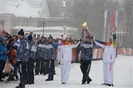 Тольятти встретил эстафету олимпийского огня зимних игр в Сочи
