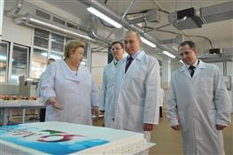 Владимир Путин посещает Самарский БКК