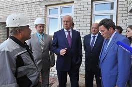 Николай Меркушкин оценил ход строительства детского сада в Сызрани
