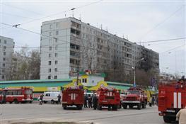 Пожар в 9-этажном доме на ул. Ново-Вокзальной
