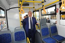 Николаю Меркушкину продемонстрировали новые тольяттинские троллейбусы