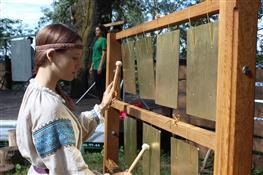 На Солнечной Поляне прошел первый фестиваль плоских колоколов
