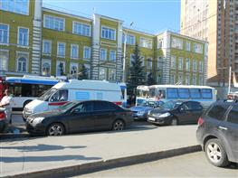 Тушение пожара на Комсомольской площади