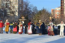 На площади Куйбышева прошли Рождественские гулянья