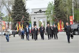 На Аллее Трудовой Славы в Самаре открыта Арка Победы