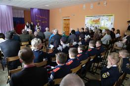 Участники Сталинградской битвы встретились с ребятами в самарской школе №129
