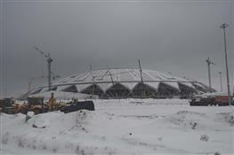 """На стадионе """"Самара Арена"""" продолжаются строительные работы"""
