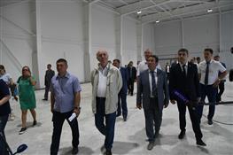 Губернатор посетил строящийся физкультурно-спортивный комплекс (ФСК) в Сызрани на ул. Победы, 68