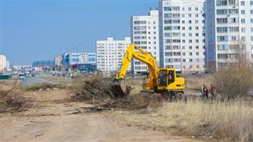 По национальному проекту в Нижнекамске приступили к подготовительным работам на проспекте Мира