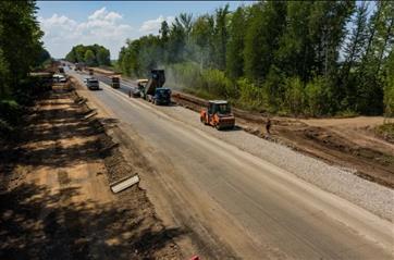 В Самарской области продолжается ремонт участка дороги Самара-Бугуруслан