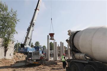 В Куйбышевском районе Самары ведется строительство новой станции ультрафиолетового обеззараживания
