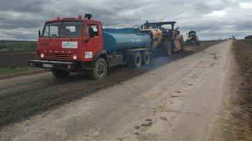В Набережночелнинской агломерации по национальному проекту ремонтируют автодорогу Джалиль - Сарманово