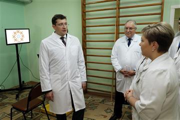 """Глеб Никитин проверил реализацию национального проекта """"Здравоохранение"""""""