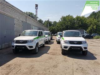 В Ульяновскую область поступило пять автомобилей УАЗ Пикап для защиты лесов от пожаров