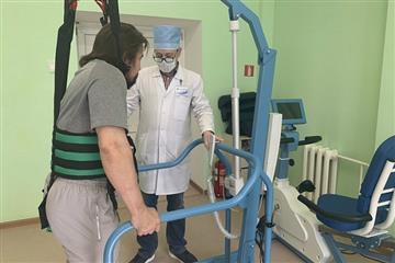 """Для реабилитации пациентов после инсульта в Центре кардиологии и неврологии используют """"умные тренажеры"""""""