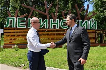 """Александр Бречалов: Парк """"Ленинский"""" в Сарапуле станет местом притяжения для горожан"""