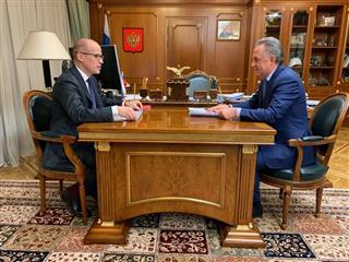 Александр Бречалов и Виталий Мутко обсудили перспективы реализации нацпроектов в Удмуртии