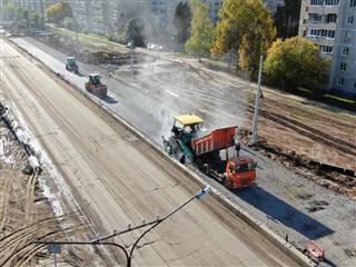 В Чебоксарах продолжается реконструкция улицы Гражданской