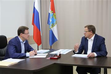Глава Пестравского района Александр Любаев доложил Губернатору Дмитрию Азарову об итогах реализации нацпроектов