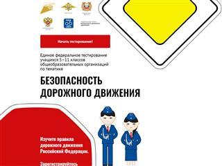 Самарские школьники участвуют в едином федеральном тестировании по безопасности дорожного движения