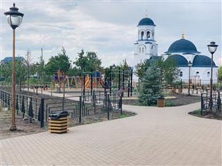 Работы по благоустройству общественных пространств в Чапаевске близки к завершению