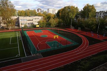 В Ижевске по нацпроекту отремонтировали межшкольный стадион около школы № 35