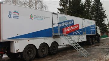 Мобильные поликлиники продолжают осмотр жителей Татарстана