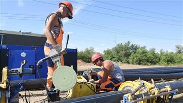 """В оренбургском поселке Каргала идет строительство водовода в рамках национального проекта """"Жилье и городская среда"""""""