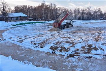 """В рамках федерального проекта """"Спорт-норма жизни"""" нацпроекта """"Демография"""" в Горномарийском районе построена хоккейная площадка"""