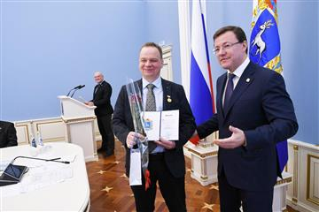 Губернатор Самарской области вручил награды Ученым губернии