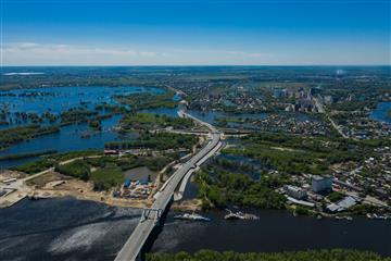 В Самаре продолжается строительство Фрунзенского моста