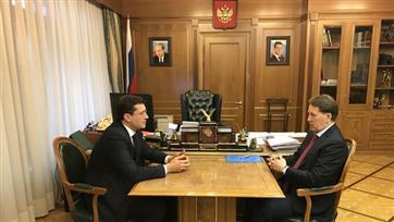 Алексей Гордеев провел рабочую встречу с губернатором Нижегородской области