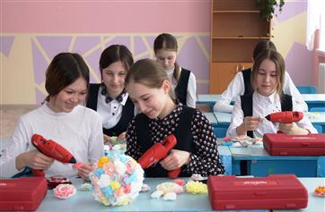 В целях реализации национального проекта в школе с. Верхние Татышлы прошел мастер-класс