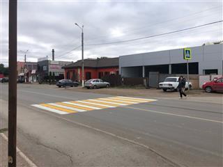 В городе Кинель Самарской области улица Орджоникидзе стала безопаснее для пешеходов
