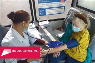 За последнюю неделю в Пермском районе более 300 человек получили вакцину в передвижных ФАПах