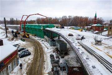 В Самарской области завершено бетонирование путепровода развязки Самарского моста