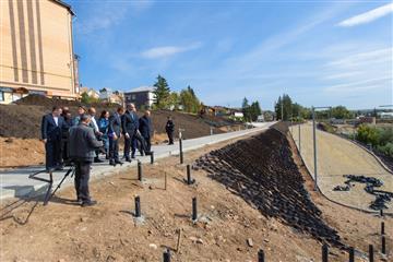 Крупнейший проект благоустройства в Бугуруслане выполнен на 60 процентов