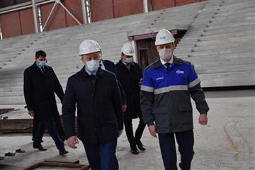 Валерий Радаев посетил строящиеся социальные объекты в пос. Солнечный-2 г. Саратова