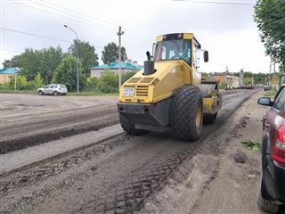 В 2020 при ремонте дорог в поселке Медведево Республики Марий Эл применяли технологию холодной регенерации