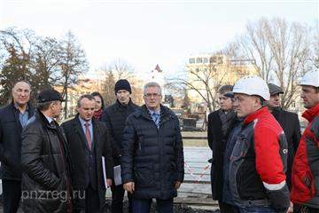Губернатор проверил ход строительства и реконструкции капитальных объектов в Пензе