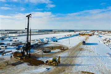 Началось строительство транспортных развязок на автомобильной дороге Тольятти-Ягодное