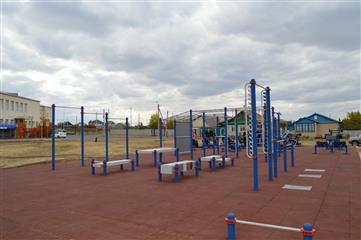 В Оренбуржье смонтирована очередная площадка ГТО