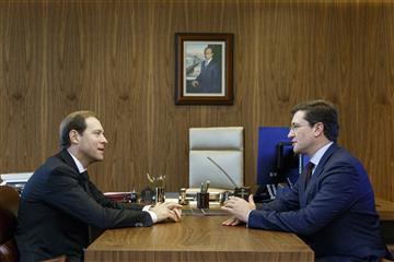 Денис Мантуров и Глеб Никитин провели рабочую встречу в Москве