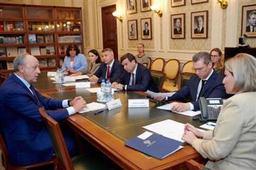 Губернатор Валерий Радаев встретился с Министром культуры РФ Ольгой Любимовой