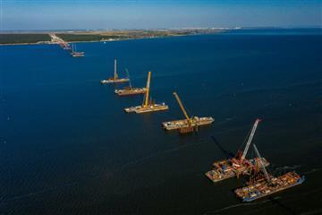 В Самарской области завершили третий этап надвижки пролетного строения Волжского моста