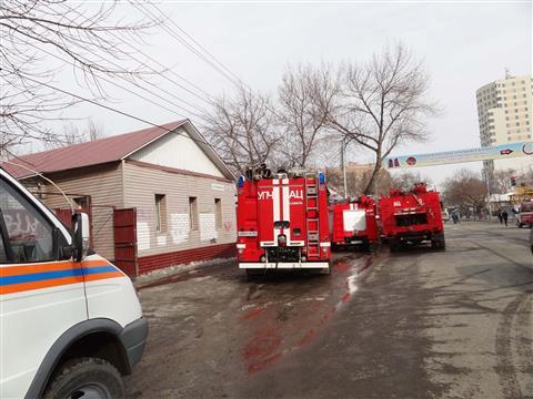 В центре Самары горел двухэтажный частный дом