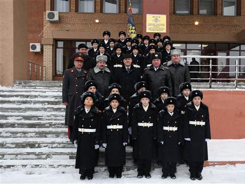 Дмитрий Азаров в Самарском кадетском корпусе МВД РФ
