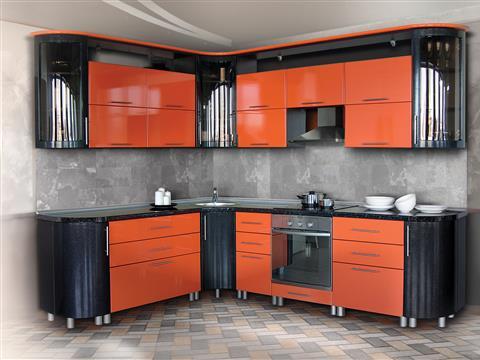 """Закажите кухню из массива березы по цене МДФ в компании """"Кухни за 1 день""""!"""