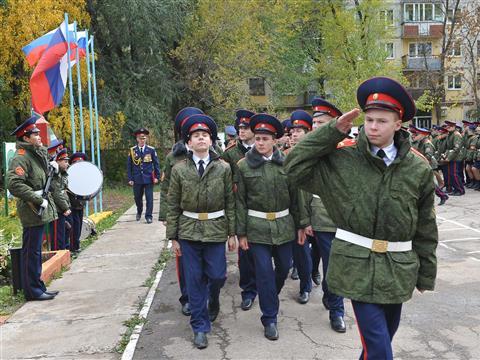 Самарских школьников приняли в кадеты