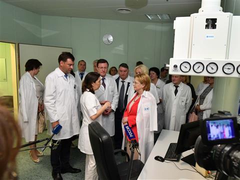 Министр здравоохранения РФ  ознакомилась с работой самарских медицинских учреждений
